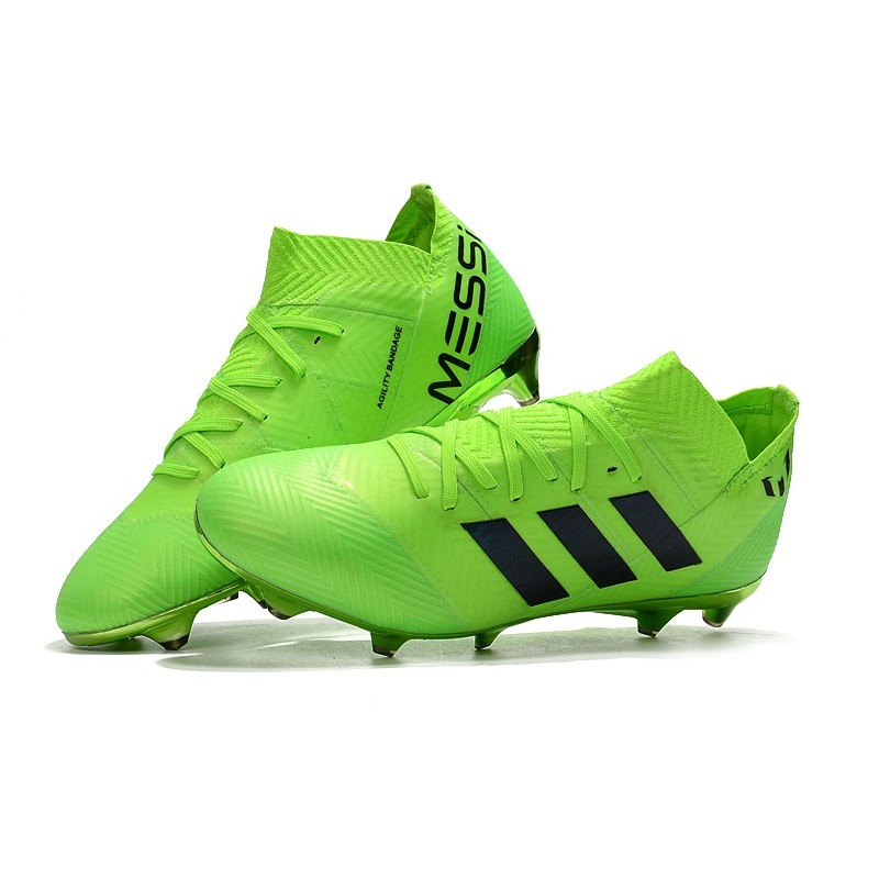 World Cup Adidas Nemeziz 18 1 Messi Fg Soccer Cleats Green Black