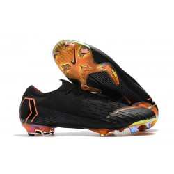 Nike 2018 New Mercurial Vapor XII Elite FG Football Boots Black Orange