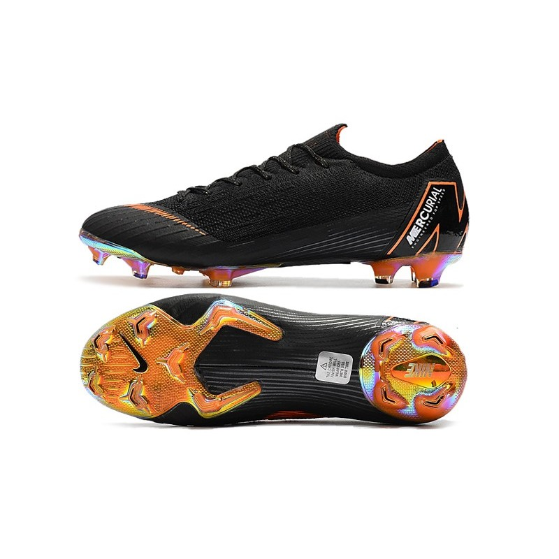 best sneakers 14754 54c34 Nike 2018 New Mercurial Vapor XII Elite FG Football Boots Black Orange