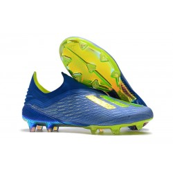 New adidas X 18+ FG Soccer Boots - Blue Yellow