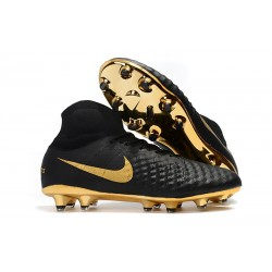 Nike New Magista Obra 2 FG Football Boots Black Gold