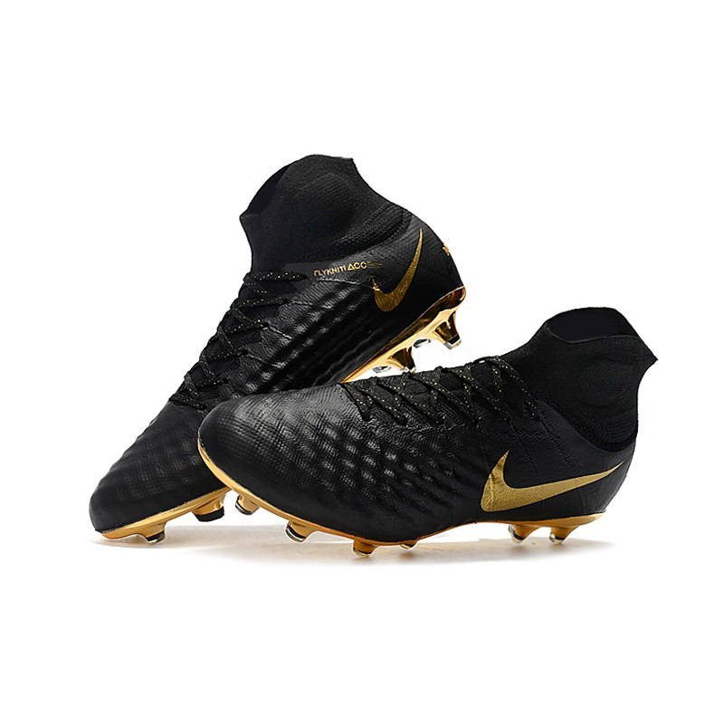nike black and gold football boots