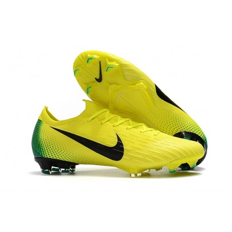 Nike 2018 New Mercurial Vapor XII Elite FG Football Boots Yellow Black 539f4b693
