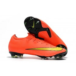 Nike Mercurial Vapor XII Elite FG Wolrd Cup Soccer Shoes - Orange Yellow