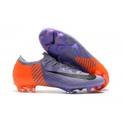Nike Mercurial Vapor XII Elite FG Wolrd Cup Soccer Shoes - Purple Orange Black