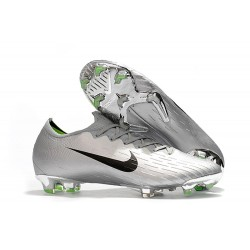 Nike Mercurial Vapor XII Elite FG Wolrd Cup Soccer Shoes - Silver Black