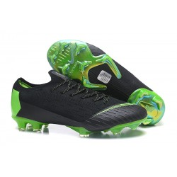 Nike Mercurial Vapor XII Elite FG Wolrd Cup Soccer Shoes - Black Green