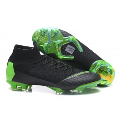 Nike Mercurial Superfly VI Elite FG New Top Cleats - Black Green