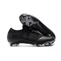 Nike Mercurial Vapor XII Elite FG Wolrd Cup Soccer Shoes - All Black