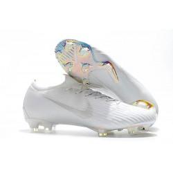 Nike Mercurial Vapor XII Elite FG Wolrd Cup Soccer Shoes - Full White