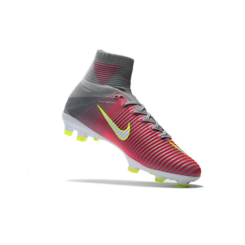 discount sale temperament shoes united kingdom Nike Mercurial Superfly V FG Soccer Cleats - Pink Grey