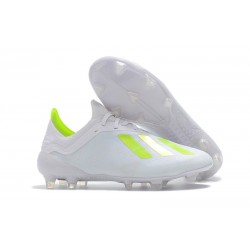 adidas X 18.1 FG Firm Ground Soccer Cleats - White Yellow