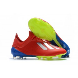 adidas X 18.1 FG Firm Ground Soccer Cleats - Red Silver