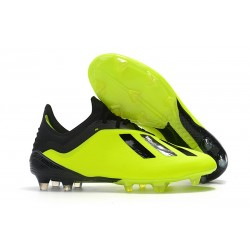 adidas X 18.1 FG Firm Ground Soccer Cleats - Yellow Black