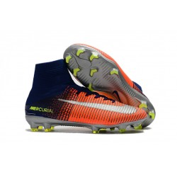 Nike Mercurial Superfly V FG Soccer Cleats - Royal Blue Chrome Crimson