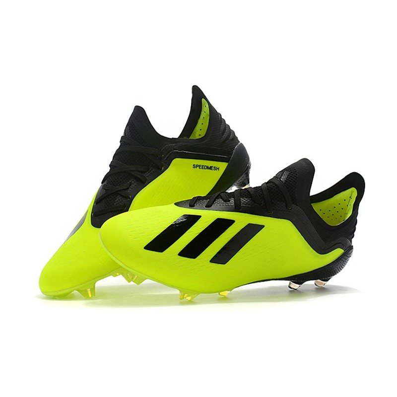 0894a65d6a02 adidas X 18.1 FG Firm Ground Soccer Cleats - Yellow Black
