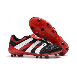 Adidas Predator Accelerator New FG Cleat - Black White Red