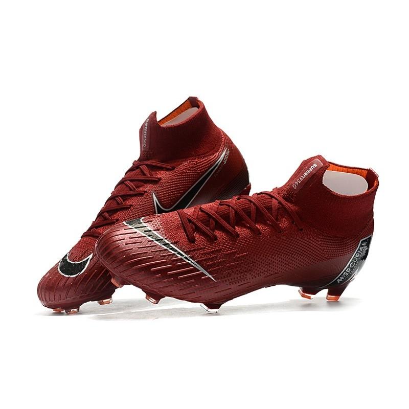 a3f3fa500 Nike Mercurial Superfly VI Elite FG New Top Cleats - Crimson Black