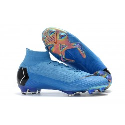 Nike Mercurial Superfly VI Elite FG New Top Cleats - Blue Black