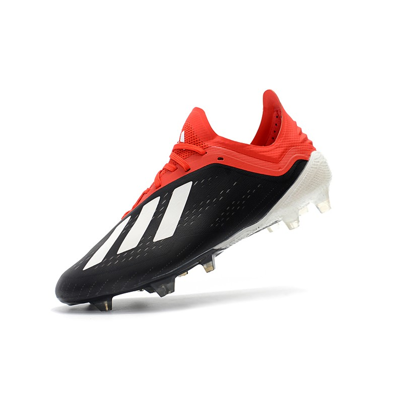 91a83f224 adidas X 18.1 FG Firm Ground Soccer Cleats - Black White Red