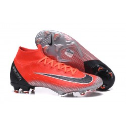 Nike Mercurial Superfly VI Elite FG New Top Cleats - Crimson Black