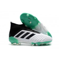 New adidas Predator 18+ FG Firm Ground Boots - White Green Black