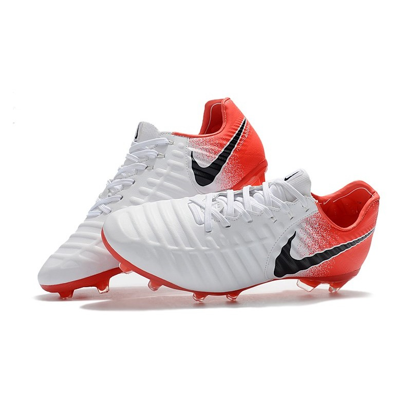 buy popular 44f5d 613f5 Nike Tiempo Legend VII FG K-Leather Soccer Cleats - White Red Black