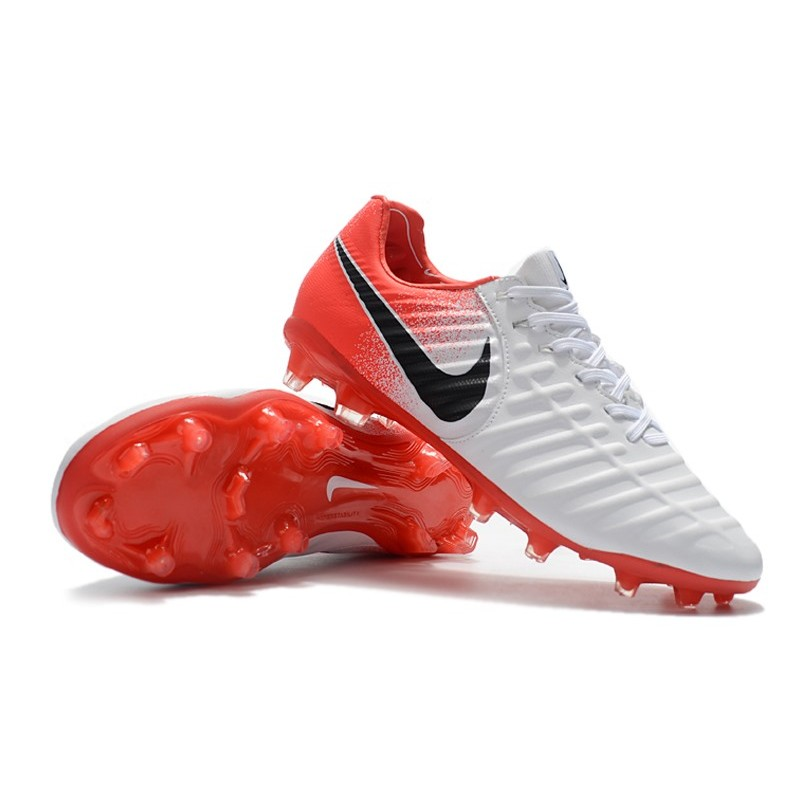 buy popular 02502 16be5 Nike Tiempo Legend VII FG K-Leather Soccer Cleats - White Red Black
