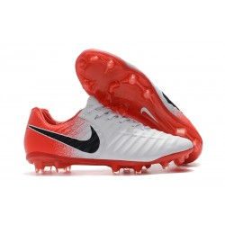 Nike Tiempo Legend VII FG K-Leather Soccer Cleats - White Red Black