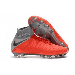 Nike Hypervenom Phantom III Elite FG Mens Soccer Boots - Red Grey Black