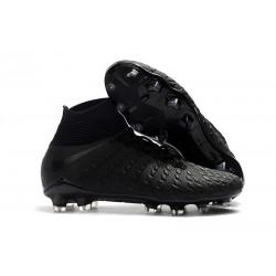 Nike Hypervenom Phantom III Elite FG Mens Soccer Boots - Black Silver