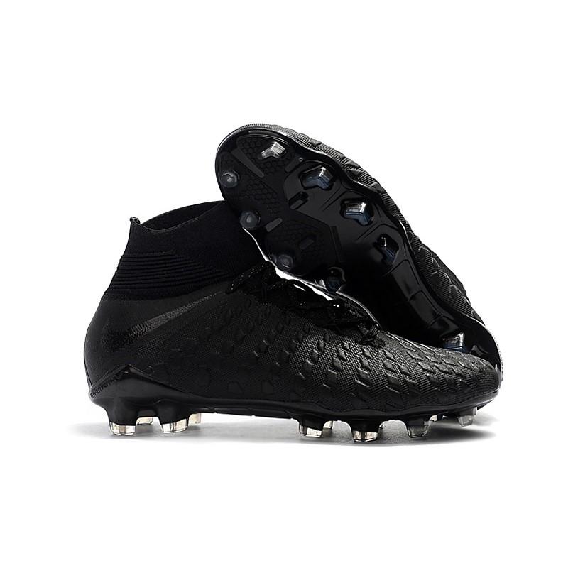 pretty nice 185c8 bdbc8 Nike Hypervenom Phantom III Elite FG Mens Soccer Boots - Black Silver