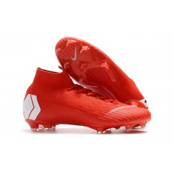 Nike Mercurial Superfly 6 Elite ACC FG Men's Boot - Red White