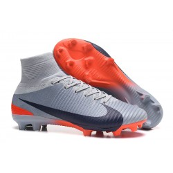 Nike Mercurial Superfly V FG Soccer Cleats - Grey Black