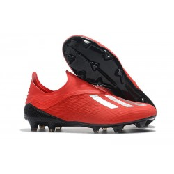 New adidas X 18+ FG Soccer Boots - Red Silver