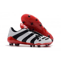 New adidas Predator Accelerator Electricity FG Boots - White Black Red