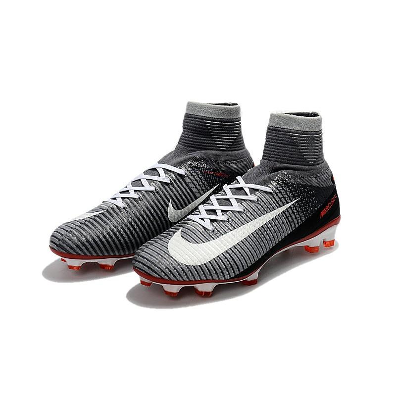 6572e6731bf Nike Mercurial Superfly V FG Soccer Cleats - Black Grey White
