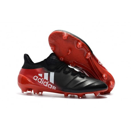 timeless design 4dd99 8273b adidas ACE 17.1 Leather FG Soccer Boots Black Red