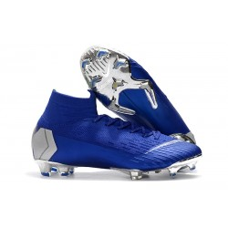 Nike Mercurial Superfly 6 Elite ACC FG Men's Boot - Blue Silver