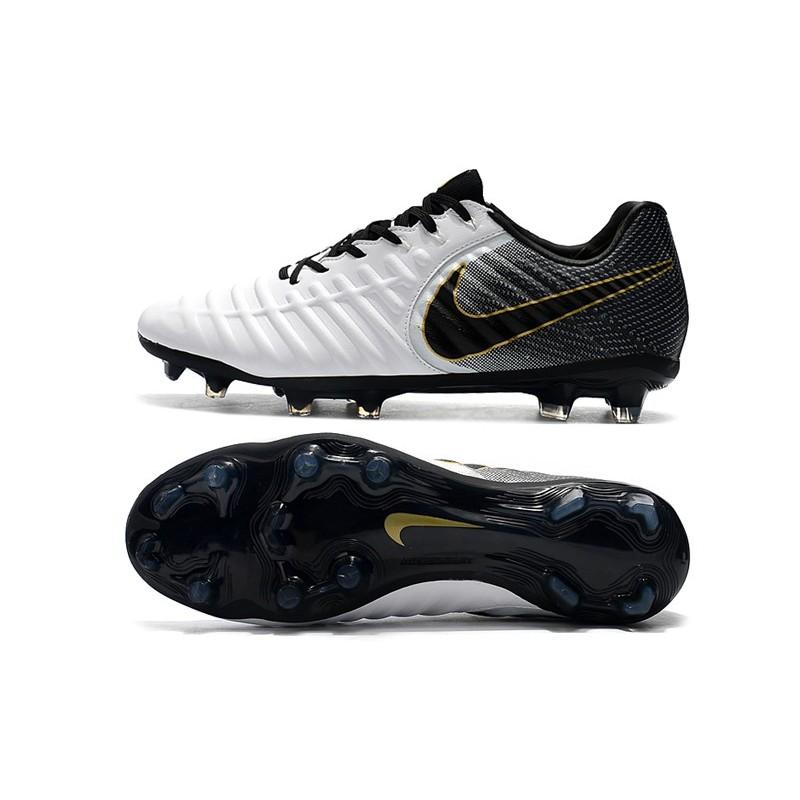 b3d8f090b Nike Tiempo Legend 7 FG New Soccer Boots - White Black Gold