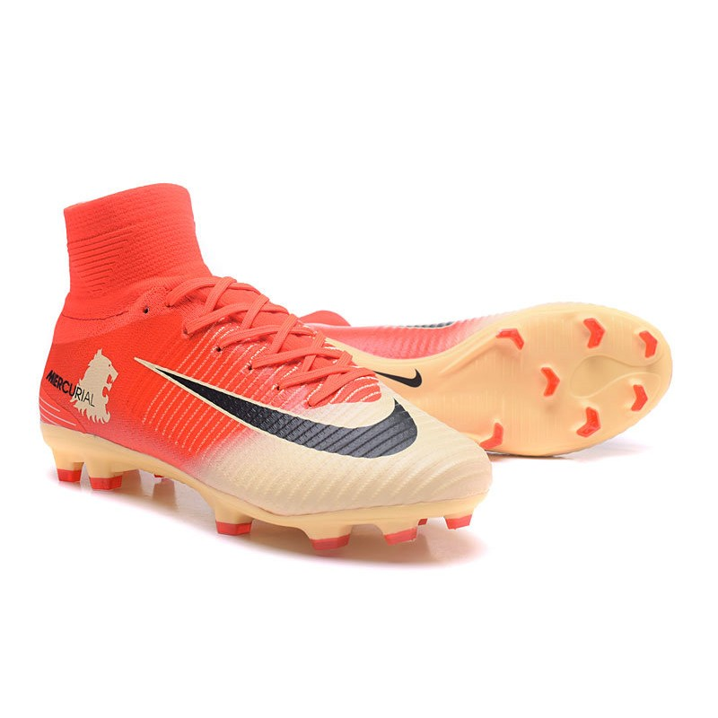 92a8a1825 Nike Mercurial Superfly V FG Soccer Cleats - Red Gold