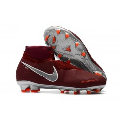 Nike Phantom VSN Elite DF FG New Boots - Red Silver