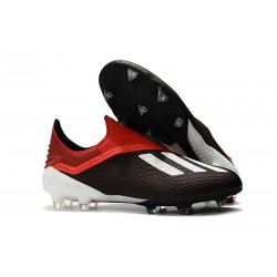 New adidas X 18+ FG Soccer Boots - Black Red White