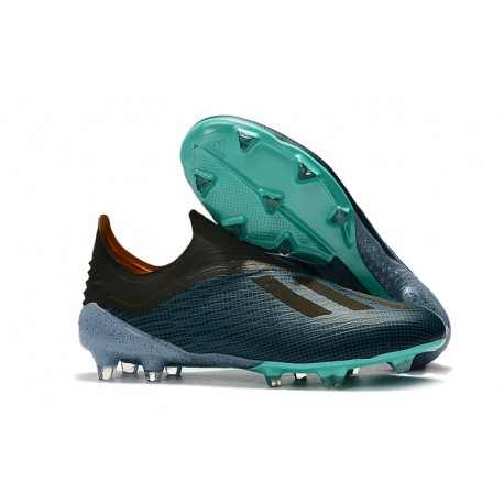 Terminología Kilimanjaro capoc  adidas X 18+ FG Firm Ground Cleats - Blue Black