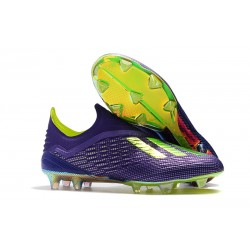 adidas X 18+ FG Firm Ground Cleats - Purple Green