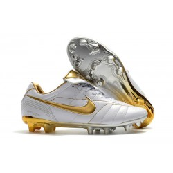 Nike Tiempo Legend 7 R10 FG New Soccer Boots - White Gold