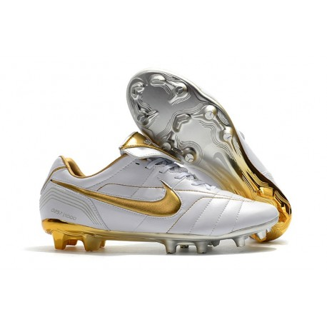 official photos f2f64 93a3a Nike Tiempo Legend 7 R10 FG New Soccer Boots - White Gold