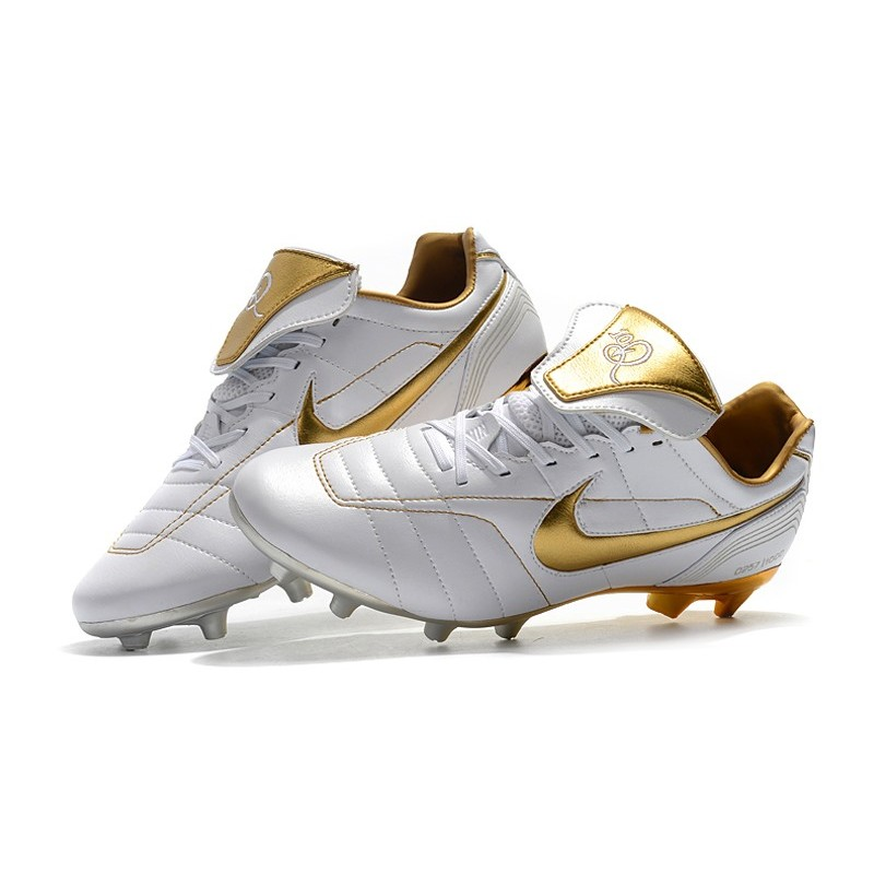 official photos 3e62e 5077f Nike Tiempo Legend 7 R10 FG New Soccer Boots - White Gold