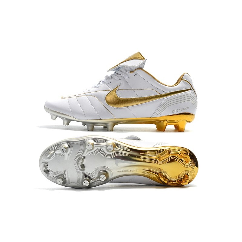 official photos 5ceba 384d5 Nike Tiempo Legend 7 R10 FG New Soccer Boots - White Gold