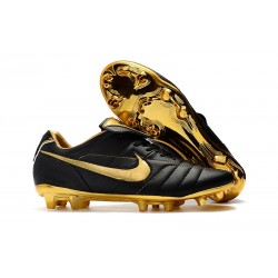 Nike Tiempo Legend 7 R10 FG New Soccer Boots - Black Gold